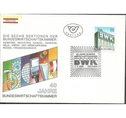 Znaczek Austria 1986 Mi 1871 FDC