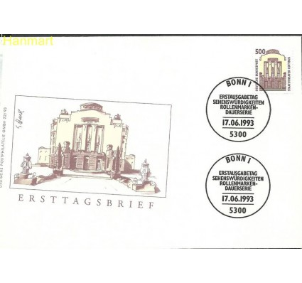 Znaczek Niemcy 1993 Mi 1679 FDC
