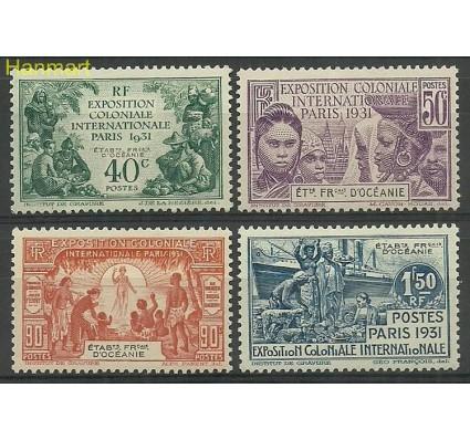 Znaczek Oceania Francuska 1931 Mi 75-78 Z podlepką *