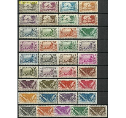 Znaczek Oceania Francuska 1934 Mi 89-125 Z podlepką *