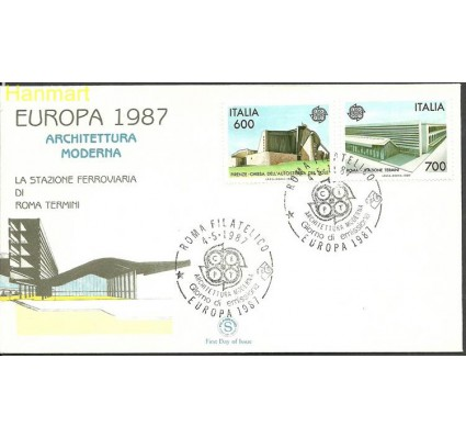Znaczek Włochy 1987 Mi 2010-2011 FDC