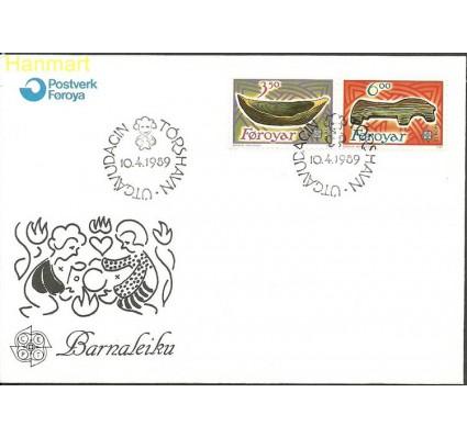 Znaczek Wyspy Owcze 1989 Mi 184-185 FDC