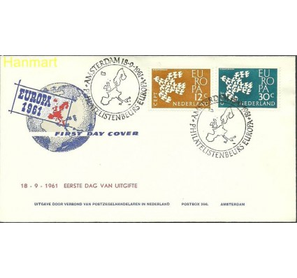 Znaczek Holandia 1961 Mi 765-766a FDC