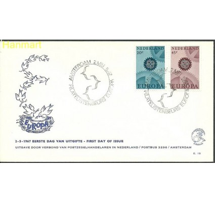 Znaczek Holandia 1967 Mi 878-879a FDC