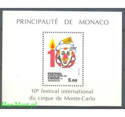 Monako 1984 Mi bl 27 Czyste **