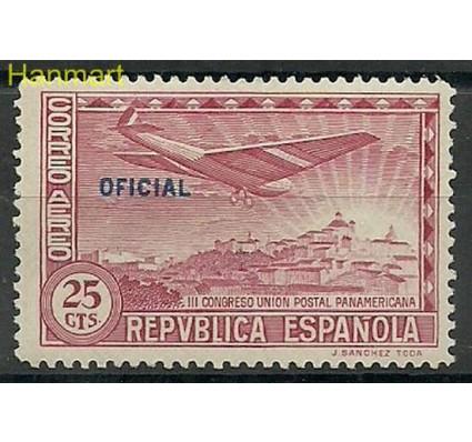 Znaczek Hiszpania 1931 Mi die 32b Z podlepką *