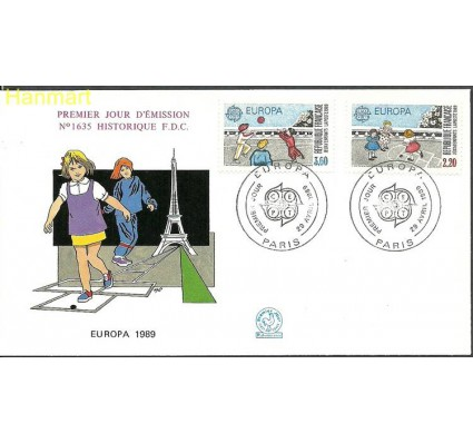 Znaczek Francja 1989 Mi 2716-2717 FDC