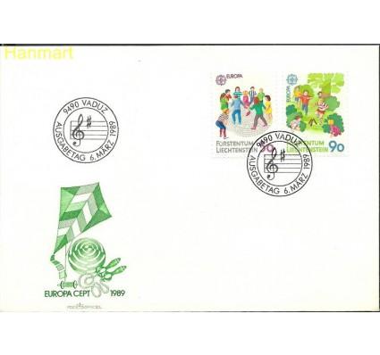 Znaczek Liechtenstein 1989 Mi 960-961 FDC
