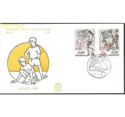 Znaczek Monako 1989 Mi 1919-1920 FDC