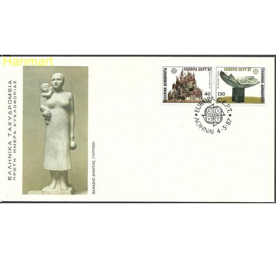 Grecja 1987 Mi 1651-1652 FDC