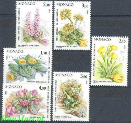 Monako 1985 Mi 1683-1688 Czyste **