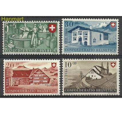 Znaczek Szwajcaria 1946 Mi 471-474 Z podlepką *
