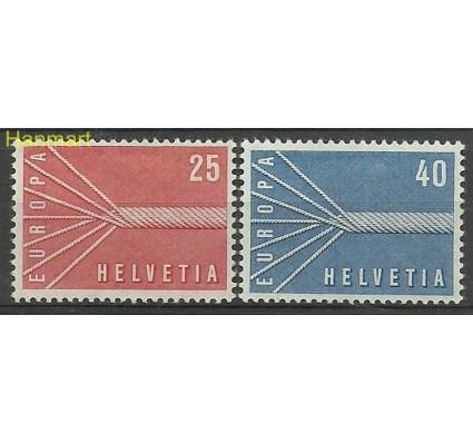 Znaczek Szwajcaria 1957 Mi 646-647 Z podlepką *