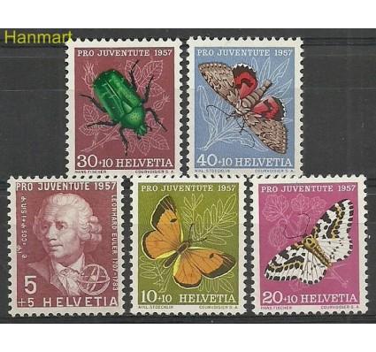 Znaczek Szwajcaria 1957 Mi 648-652 Z podlepką *