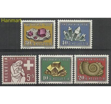 Znaczek Szwajcaria 1958 Mi 657-661 Z podlepką *