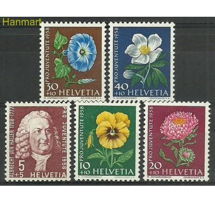 Znaczek Szwajcaria 1958 Mi 663-667 Z podlepką *
