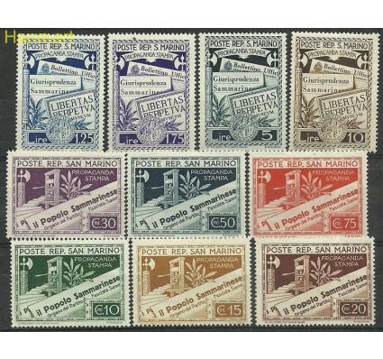 Znaczek San Marino 1943 Mi 259-268 Z podlepką *