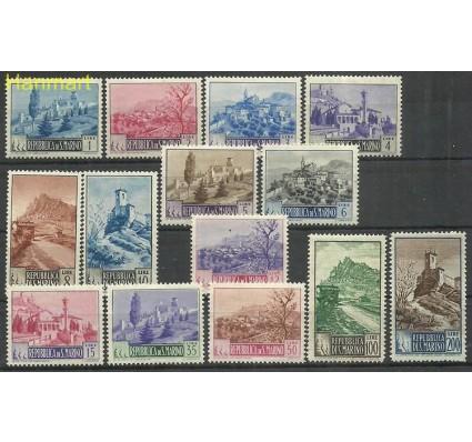 Znaczek San Marino 1949 Mi 409-422 Z podlepką *