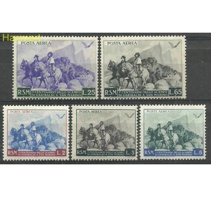 Znaczek San Marino 1949 Mi 425-429 Z podlepką *