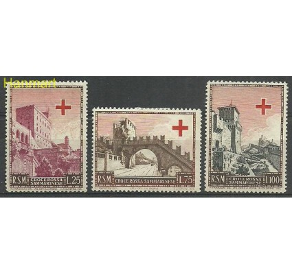 Znaczek San Marino 1951 Mi 457-459 Z podlepką *
