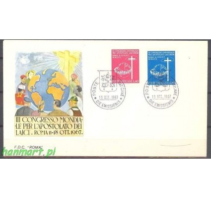 Znaczek Watykan 1967 FDC