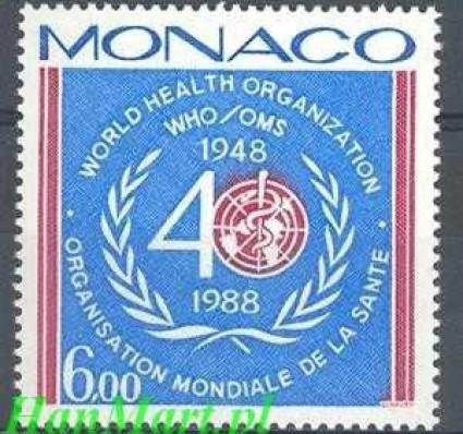 Monako 1988 Mi 1869 Czyste **