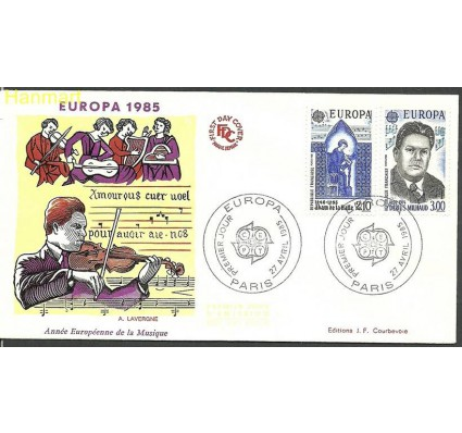 Znaczek Francja 1985 Mi 2497-2498 FDC