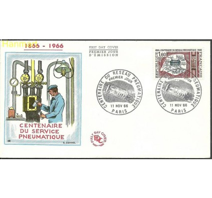 Znaczek Francja 1966 Mi 1563 FDC