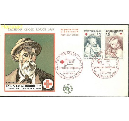 Znaczek Francja 1965 Mi 1532-1533 FDC