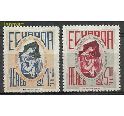 Znaczek Ekwador 1963 Mi 1115-1116 Czyste **