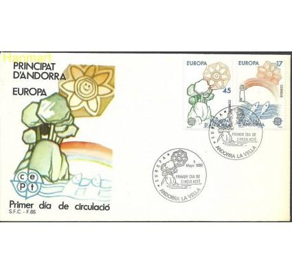 Znaczek Andora Hiszpańska 1986 Mi 188-189 FDC
