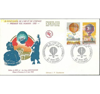 Znaczek Francja 1983 Mi 2387-2388 FDC