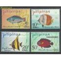 Filipiny 1972 Mi 1009-1012 Z podlepką *