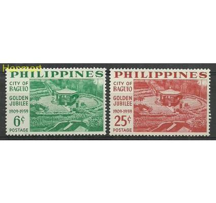 Znaczek Filipiny 1959 Mi 639-640A Czyste **