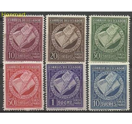 Znaczek Ekwador 1948 Mi 677-682 Czyste **