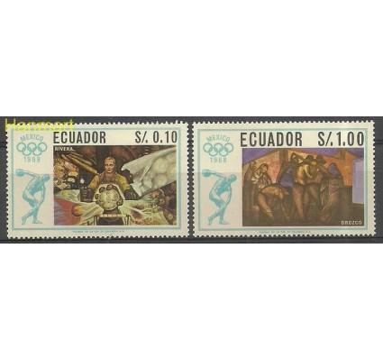 Znaczek Ekwador 1967 Mi 1313-1314 Czyste **