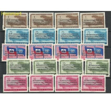 Znaczek Haiti 1959 Mi 535-554 Z podlepką *