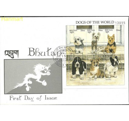 Znaczek Bhutan 1997 Mi ark1736-1741 FDC