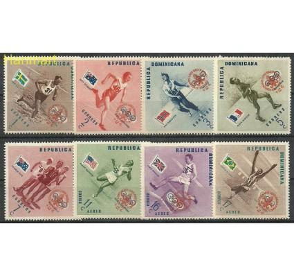 Znaczek Dominikana 1957 Mi 593-600 Czyste **