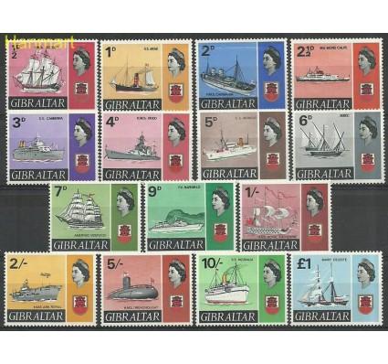 Znaczek Gibraltar 1967 Mi 188-201 Czyste **