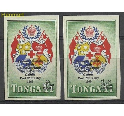 Znaczek Tonga 1968 Mi D33-34 Czyste **