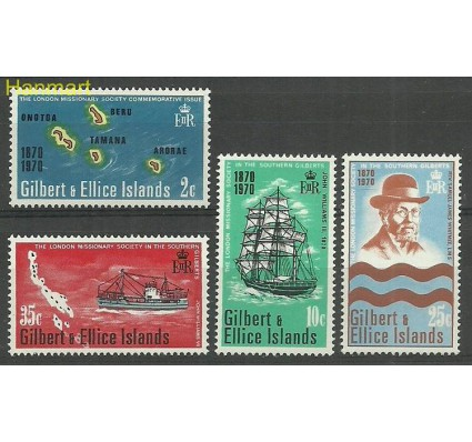 Znaczek Gilbert Ellice Islands 1970 Mi 161-164 Czyste **
