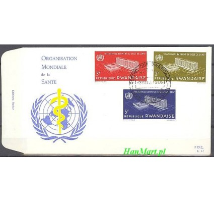 Rwanda 1966 Mi 168-170 FDC