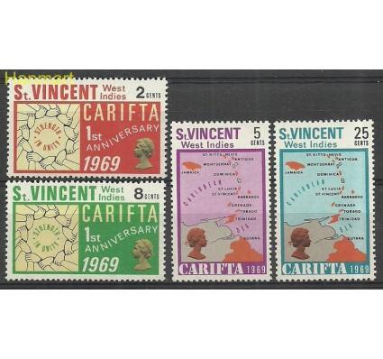 Znaczek St. Vincent 1969 Mi 251-254 Czyste **