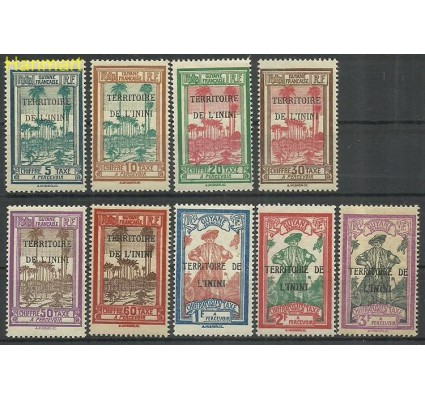 Znaczek Gujana 1932 Mi por 1-9 Z podlepką *