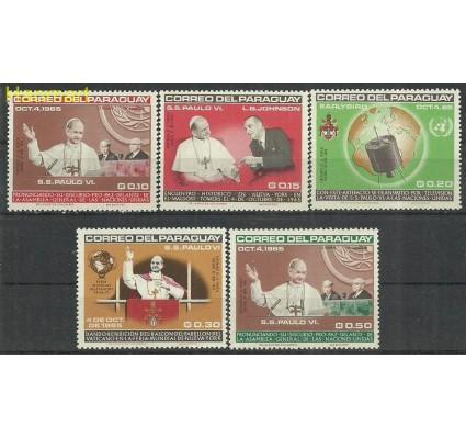 Znaczek Paragwaj 1965 Mi 1487-1491 Czyste **