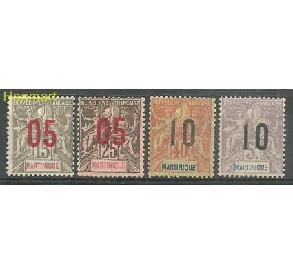 Znaczek Martynika 1912 Mi 73-76I Z podlepką *