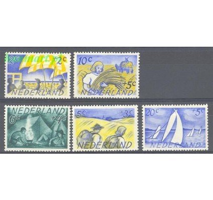 Znaczek Holandia 1949 Mi 516-520 Z podlepką *