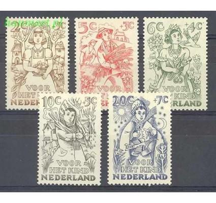 Holandia 1949 Mi 546-550 Z podlepką *