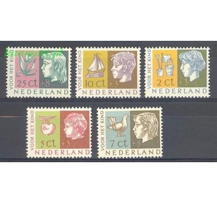 Znaczek Holandia 1953 Mi 631-635 Z podlepką *